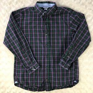 Hartstrings Button Down Shirt Plaid Long Sleeve 10